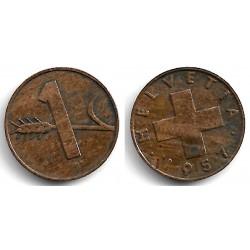 (46) Suiza. 1957(B). 1 Rappen (BC+)