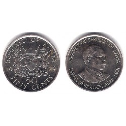 (19) Kenia. 1989. 50 Cents (EBC+)