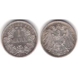 (14) Imperio Alemán. 1910(F). 1 Mark (SC-) (Plata)