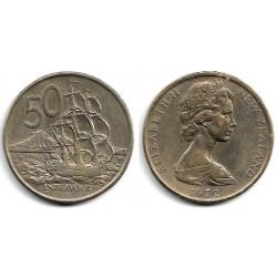 (37.1) Nueva Zelanda. 1972. 50 Cents (MBC)