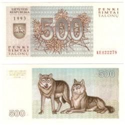 (46) Lituania. 1993. 500 Talonu (SC)