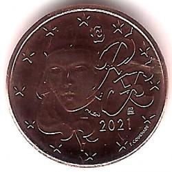 Francia. 2021. 1 Céntimo (SC)