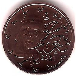 Francia. 2021. 2 Céntimos (SC)