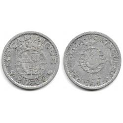 (80) Mozambique. 1952. 20 Escudos (MBC) (Plata)
