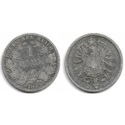 (7) Imperio Alemán. 1875(A). 1 Mark (BC+) (Plata)