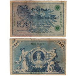 (34) Imperio Alemán. 1908. 100 Mark (BC)