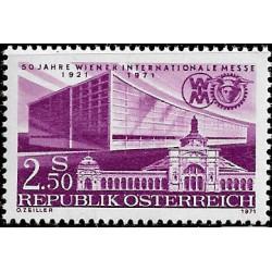Austria. 1971. 2,50 Schilling. 50 Años Feria Internacional de Viena (Nuevo)