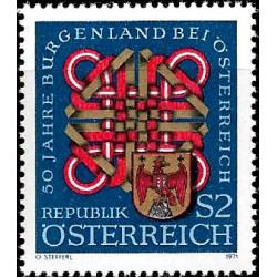 Austria. 1971. 2 Schilling. 50 Años Burgenland (Nuevo)