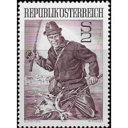 Austria. 1971. 2 Schilling. Pescador (Nuevo)