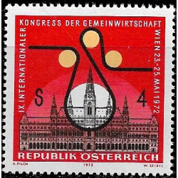 Austria. 1972. 4 Schilling. Economia Cooperativa (Nuevo)