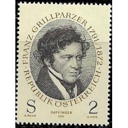 Austria. 1972. 2 Schilling. Franz Grillparzer (Nuevo)