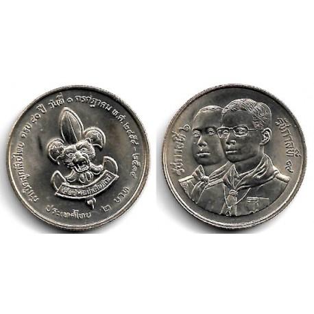 (Y240) Tailandia. 1991(2534). 2 Baht (SC)