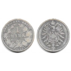 (7) Imperio Alemán. 1875(J). 1 Mark (BC) (Plata)