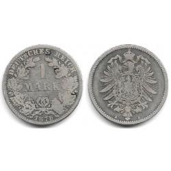(7) Imperio Alemán. 1876(A). 1 Mark (BC+) (Plata)