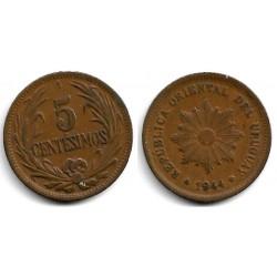 (21a) Uruguay. 1944. 5 Centesimos (MBC+)