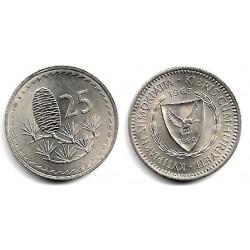 (40) Chipre. 1963. 25 Mils (EBC)