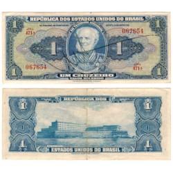 (132) Brasil. 1944. 1 Cruzeiro (MBC) Edición Firmada a Mano