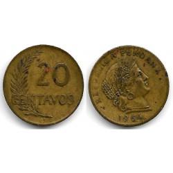 (221.2b) Perú. 1964. 20 Centavos (MBC-)