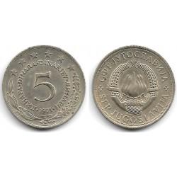 (58) Yugoslavia. 1971. 5 Dinara (EBC)
