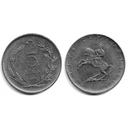 (905) Turquía. 1975. 5 Lira (MBC)
