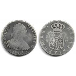 Carlos IV. 1805. 4 Reales (BC) (Plata) Ceca de Madrid FA