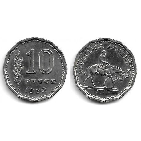 (60) Argentina. 1962. 10 Pesos (EBC)