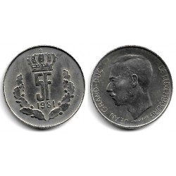 (56) Luxemburgo. 1981. 5 Francs (EBC)