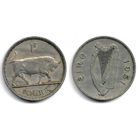(14a) Irlanda. 1951. 1 Schilling (BC+)
