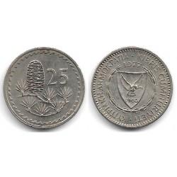 (40) Chipre. 1977. 25 Mils (MBC)