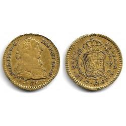 Carlos III. 1781. 2 Escudos (MBC-) (Oro) Ceca de Popayán SF