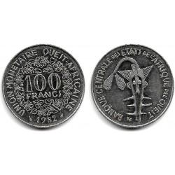(4) Estados África Oeste. 1982. 100 Francs (EBC)