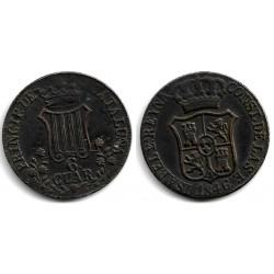 Isabel II. 1846. 6 Cuartos (MBC) Ceca de Cataluña