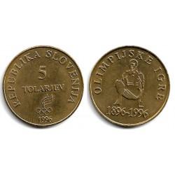 (33) Eslovenia. 1996. 5 Tolarjev (SC)