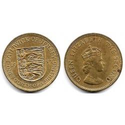 (22) Jersey. 1957. ¼ Shilling (MBC+)