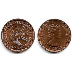 (55) Chipre. 1955. 3 Mils (EBC)