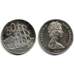 (37.1) Nueva Zelanda. 1967. 50 Cents (Proof)