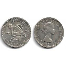 (27.1) Nueva Zelanda. 1953. 1 Shilling (SC)