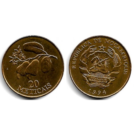 (118) Mozambique. 1994. 20 Meticais (SC)