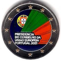 Portugal. 2021. 2 Euro (SC) Coloreada