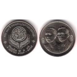 (Y270) Tailandia. 1992(2535). 2 Baht (SC)
