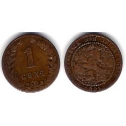 (107) Países Bajos. 1883. 1 Cent (BC)