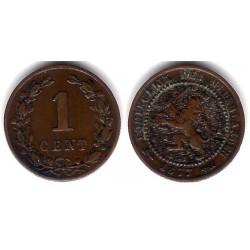 (107) Países Bajos. 1877. 1 Cent (MBC)