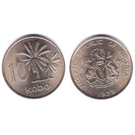 (10.1) Nigeria. 1973. 10 Kobo (EBC)