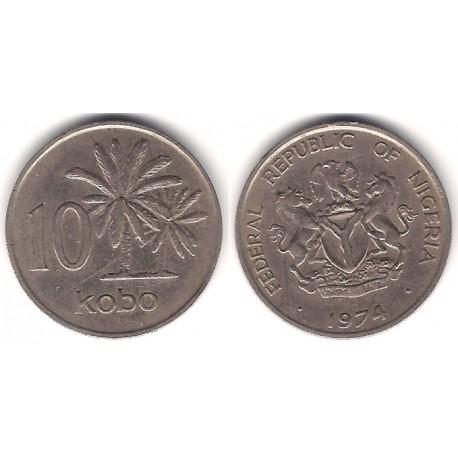 (10.1) Nigeria. 1974. 10 Kobo (MBC)