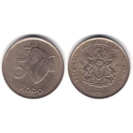 (9.1) Nigeria. 1974. 5 Kobo (BC+)