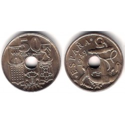 Estado Español. 1949*(19-53). 50 Céntimos (SC)