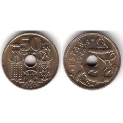 Estado Español. 1949*(19-56). 50 Céntimos (EBC+)