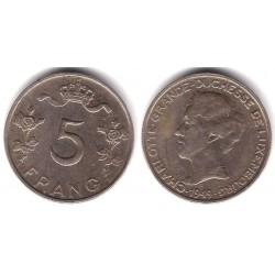 (50) Luxemburgo. 1949. 5 Francs (MBC)