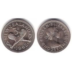 (35.2) Nueva Zelanda. 1962. 3 Pence (SC)