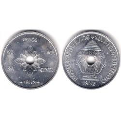 (5) Laos. 1952. 20 Cents (SC)